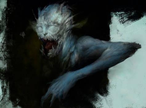 Monster behind the door