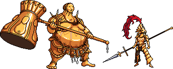 Dragon Slayer Ornstein and Executioner Smough by FiragaShark