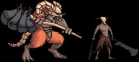 Taurus Demon and Capra Demon by FiragaShark