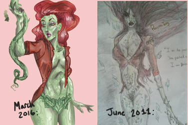 Poison Ivy- then v now by ReidRo