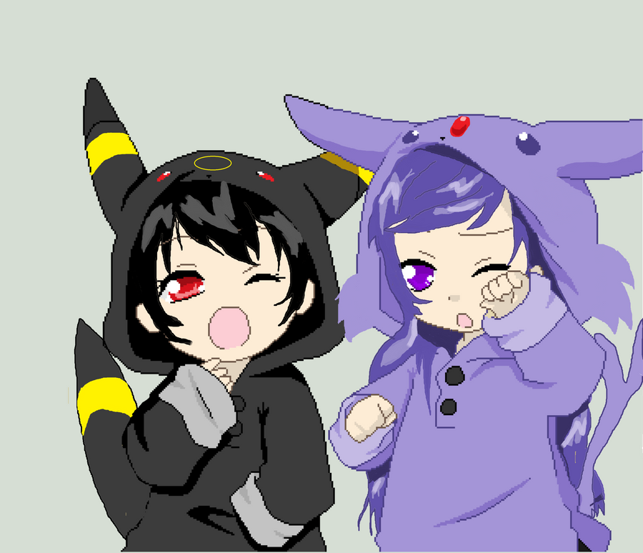 Umbreon and Espeon Re-done by lorxene on DeviantArt