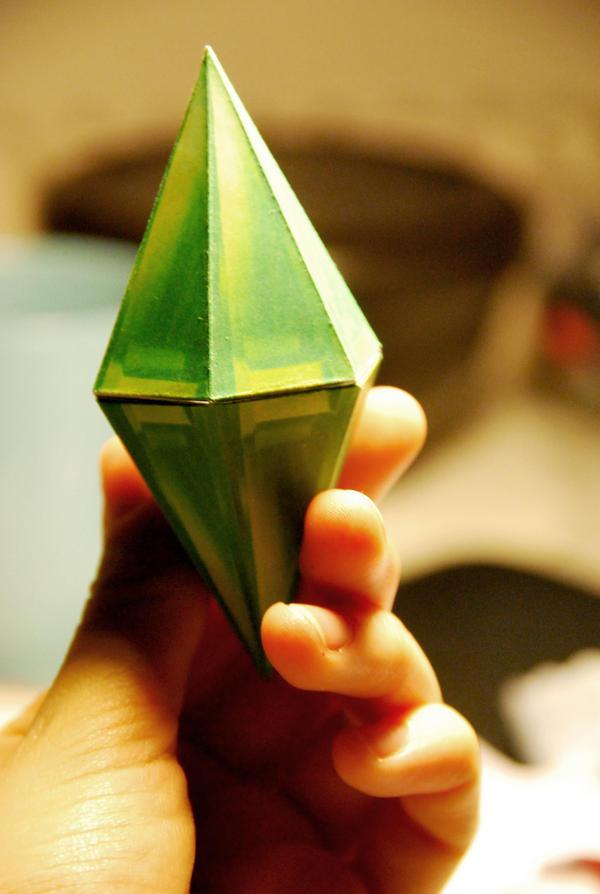 Green Sims Jewel by iPlewnia22