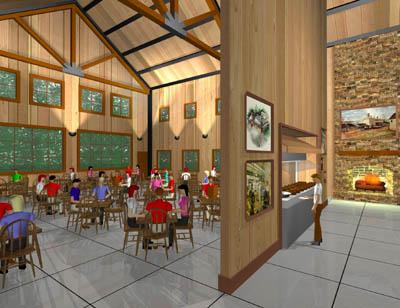 Restaurant Interior by Zaron3d