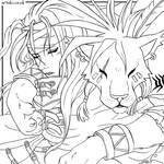Red XIII and Vincent