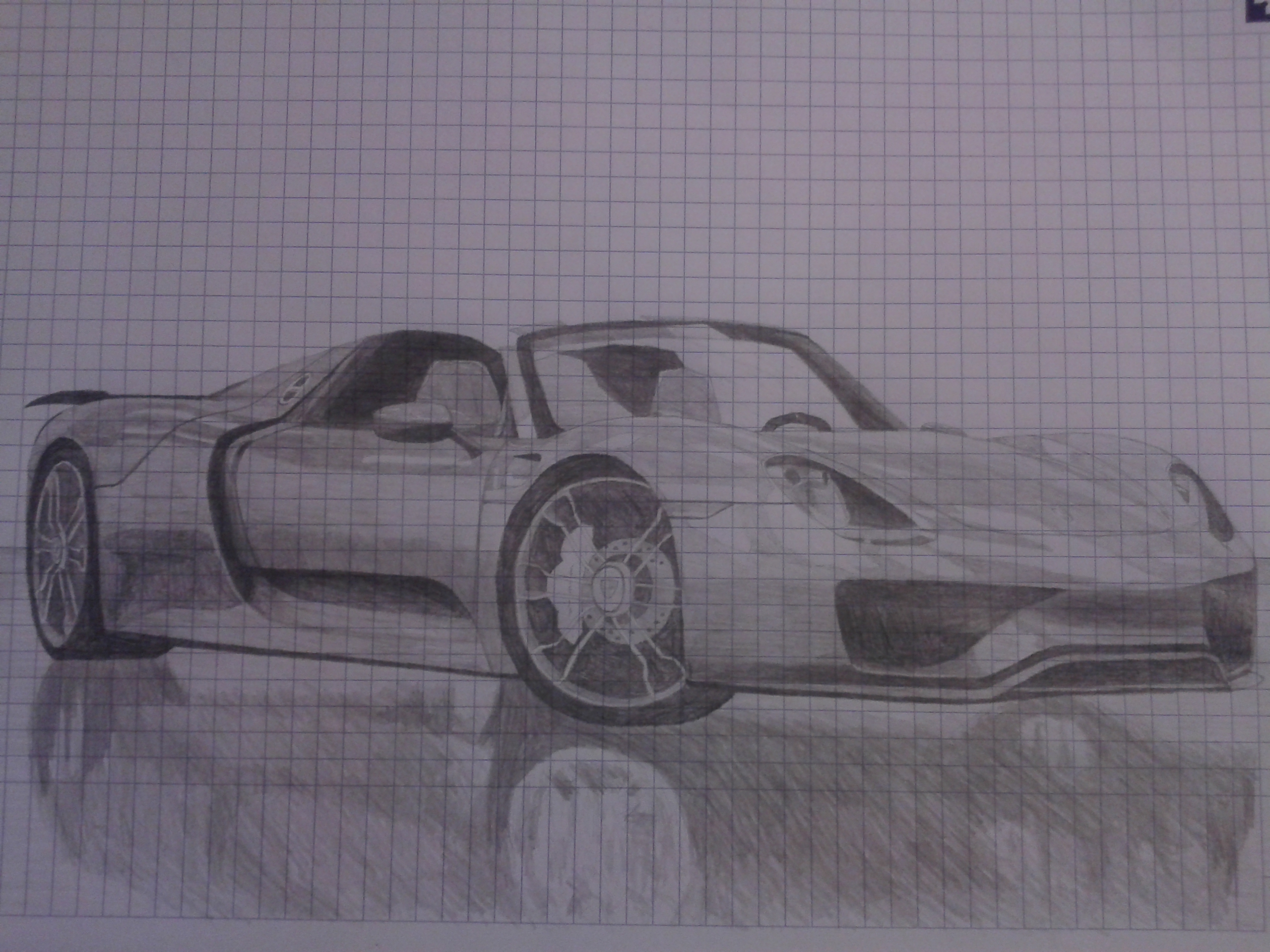 porsche 918 spyder drawing by revvnar wallander on deviantart. Black Bedroom Furniture Sets. Home Design Ideas