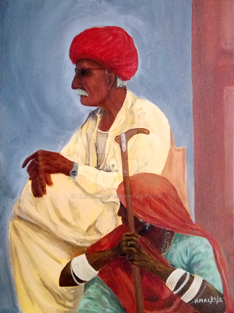 Old Man With Wife by amalbose