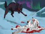 Wolf's Rain ::Kiba vs. Darcia::