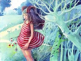 Capricorn girl by buguanle