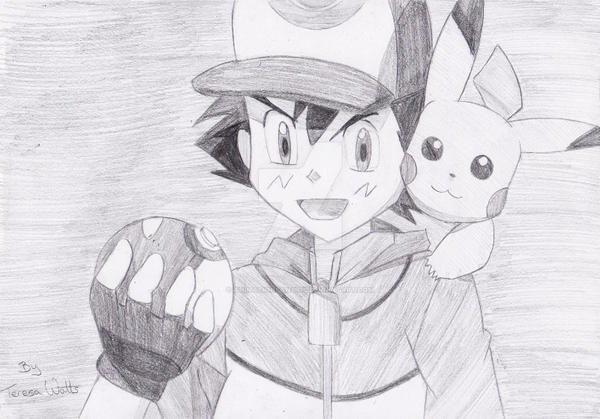 Ash And Pikachu Pencil Sketch By AnimationFanatic On DeviantArt
