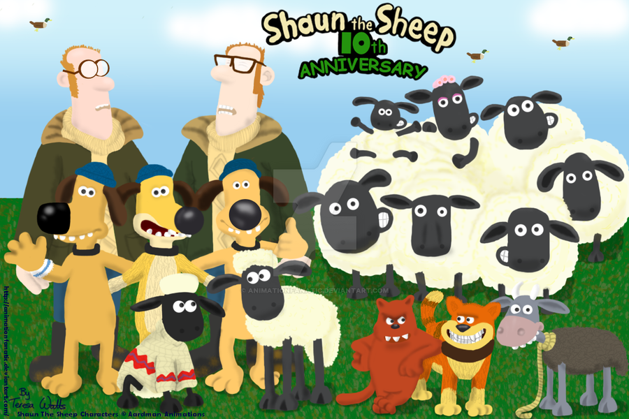 Shaun The Sheep 10th Anniversary By AnimationFanatic