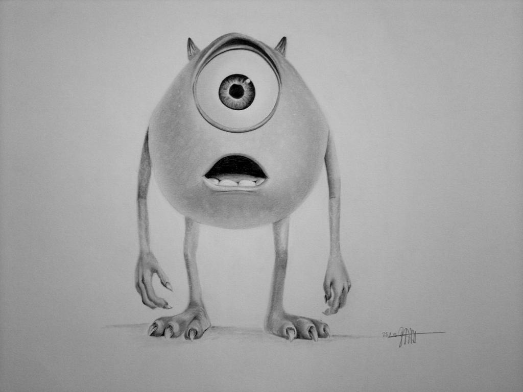 Mike (Monsters Inc.) by maenzchen on DeviantArt