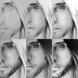 Jared Leto Making of in 6 Steps by maenzchen