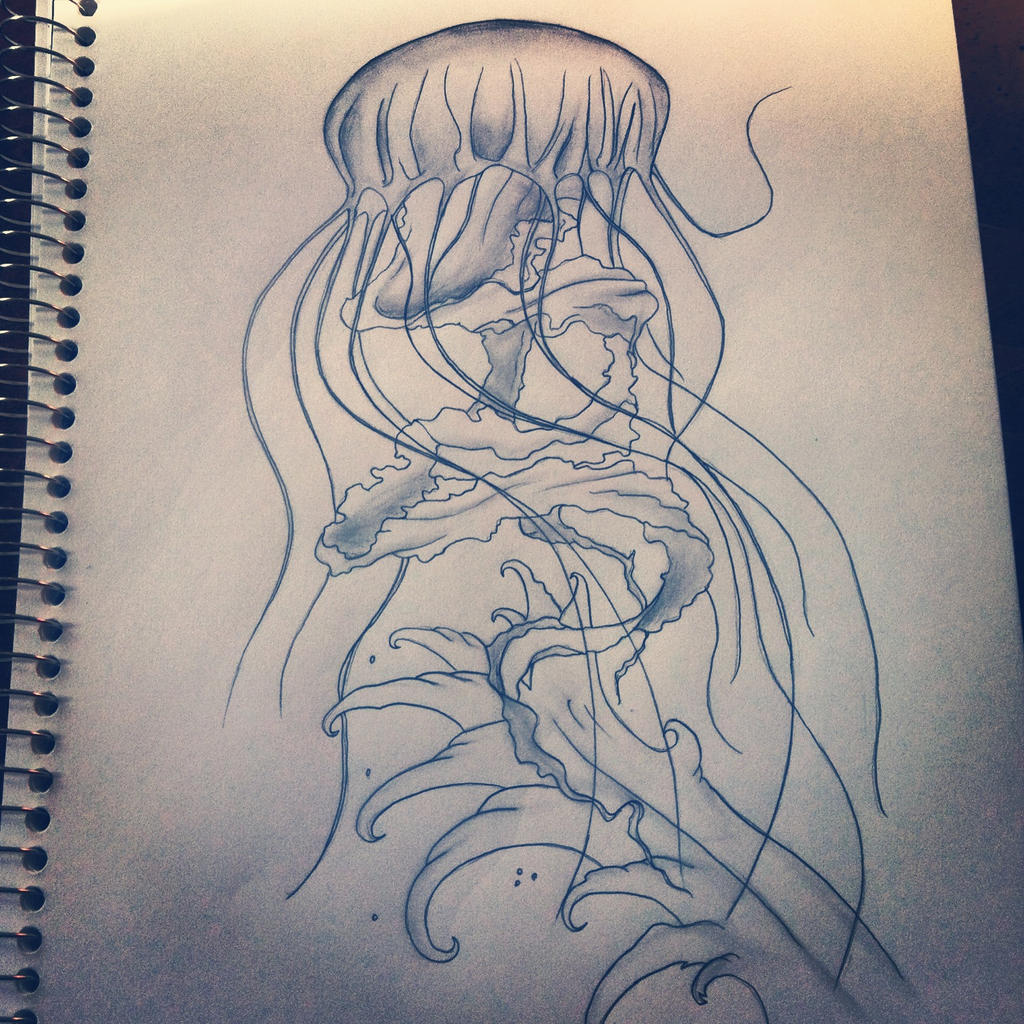 Jellyfish drawing tattoo