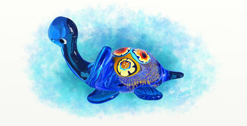 Glass Turtle by brzozod526