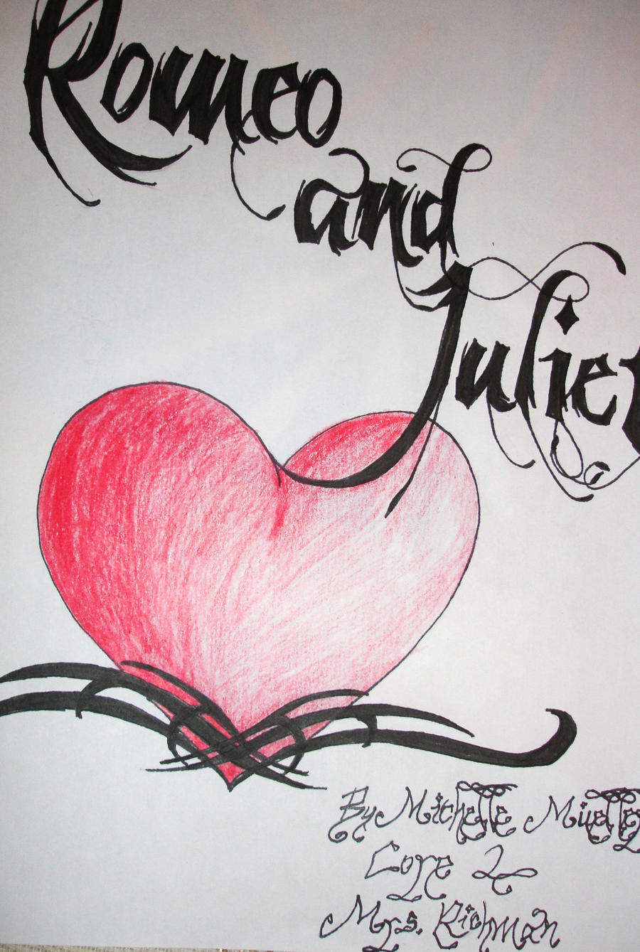 Drawing Book Cover Page : Romeo and juliet title page by kaguradragon on deviantart