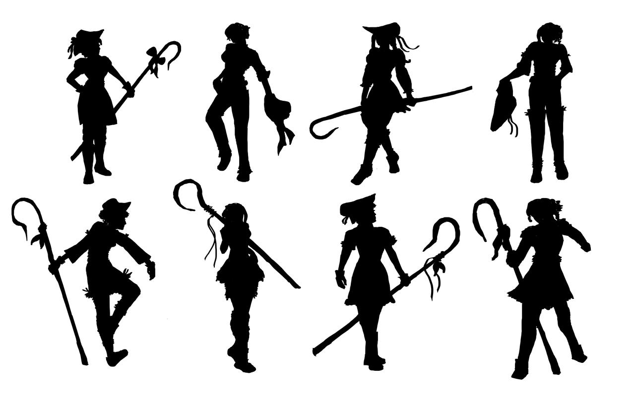 Character Design Silhouette Tutorial : Character silhouette practice by vain on deviantart