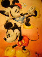 Mickey and Minnie by dragonish