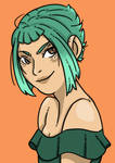 Green Haired Girl by eipugsley