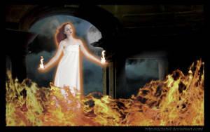 Fire Goddess by debzb17