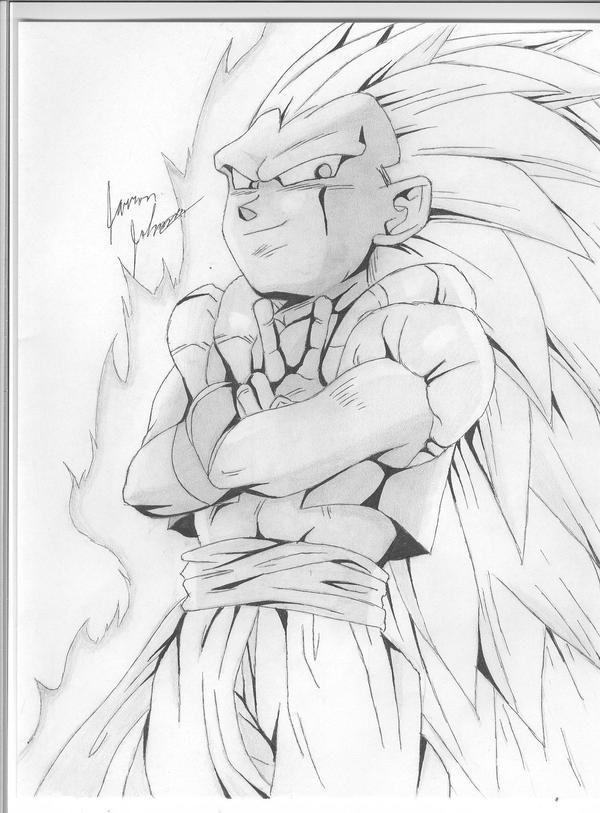 super saiyan 2 goku colouring pages