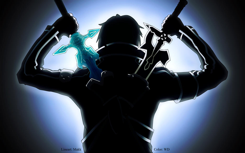 Line Art Converter Online : Kirito sao ready to fight by wdmoon on deviantart