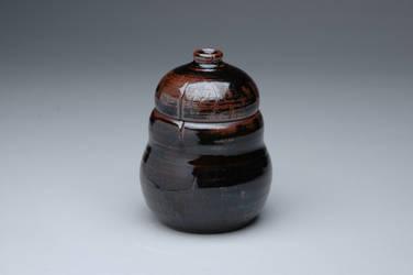 Dark Curved Jar by sonkette
