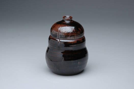 Dark Curved Jar