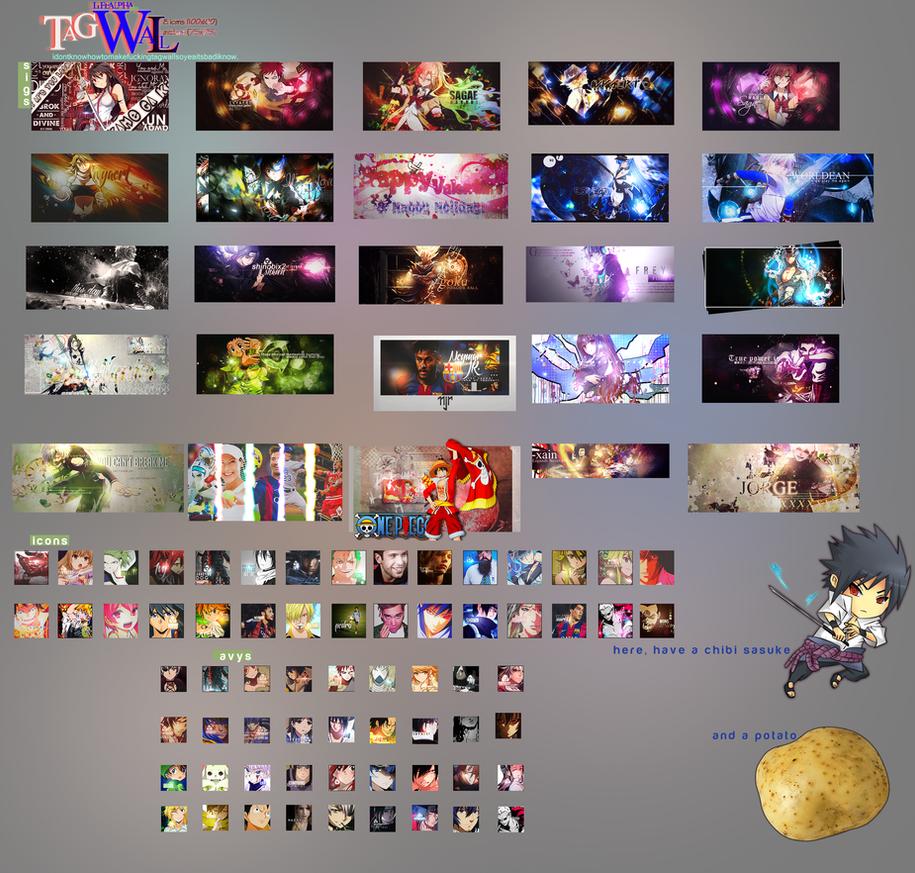 2015 Tagwall (+ Icons and Avys) | January-February by LifeAlpha