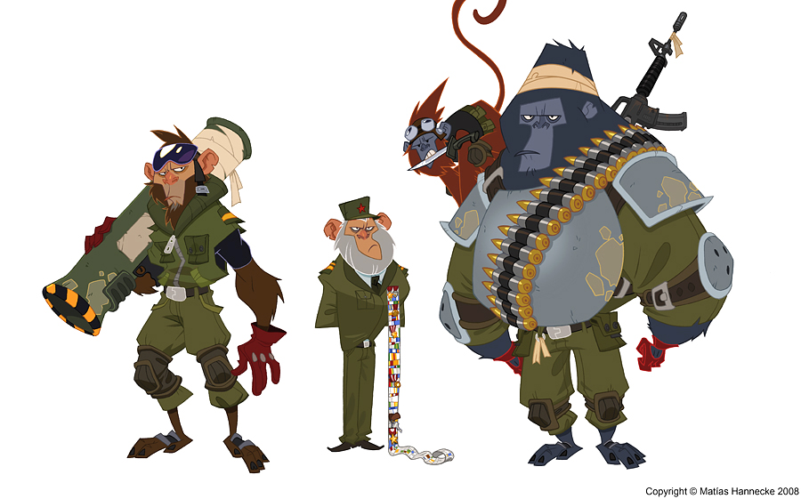 Monkey Soldiers Designs by mhannecke