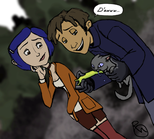 Norman And Coraline Kiss: Coraline And Wybie Older By Rachelo On DeviantArt