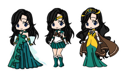 Amaryllis and Sailor Earth by BlazingTyphlosion