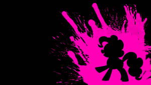 Pinkie Pie Wallpaper 2 (Black Background) by ElmoDesigns