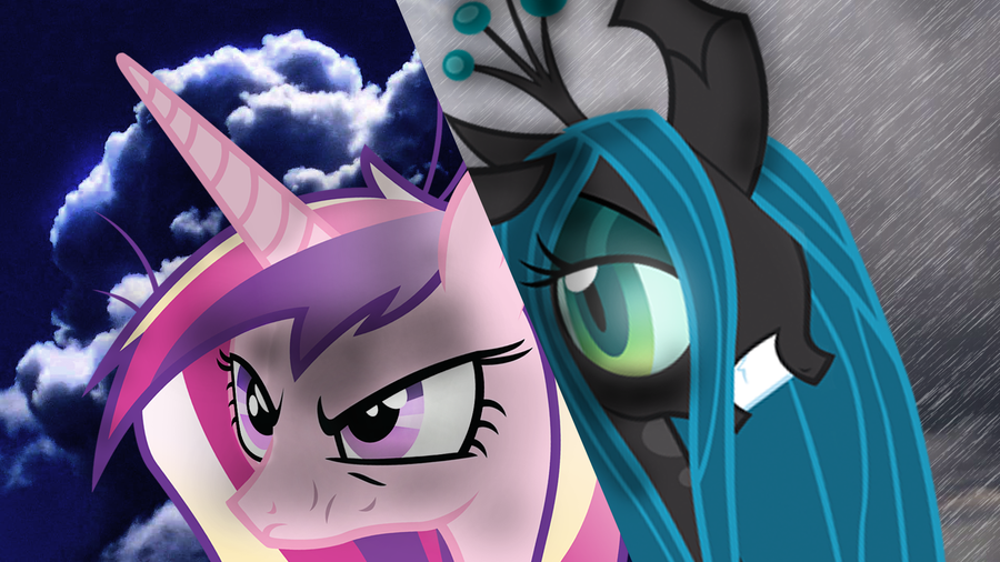 Princess Cadence VS Queen Chrysalis 3 by ElmoDesigns