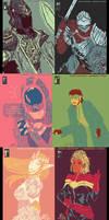Color palette memes art dump