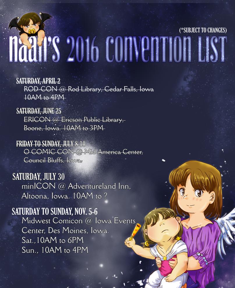 Convention Schedule 2016! by JadineR