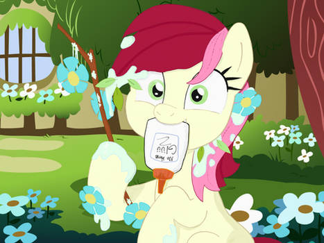 Roseluck and some flowering sticks