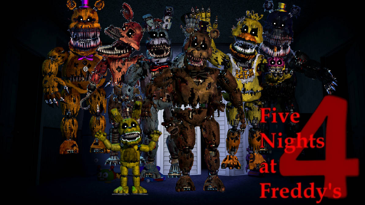 Five Nights At Freddy S 4 Wallpaper By Pedrophhd On Deviantart