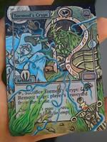 MTG Altered FNM Tormod's Crypt Custom Art by BlackBullo