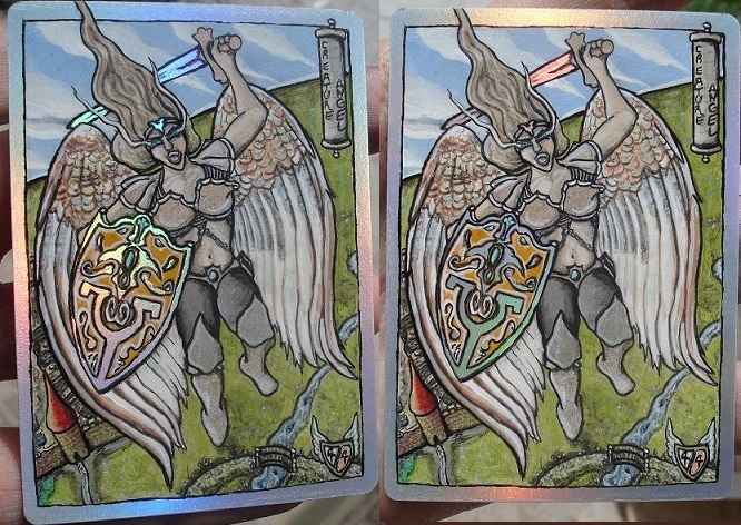 MTG Custom Art Angel Token foil by BlackBullo