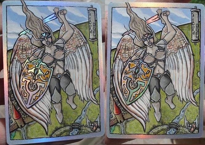 MTG Custom Art Angel Token foil by BlackBullo