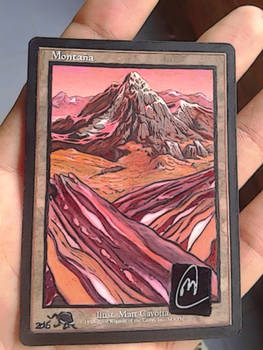 Altered Mountain signed by Original Artist