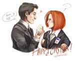 FANART ~ X-Files, SketchPaint, Happy Easter !