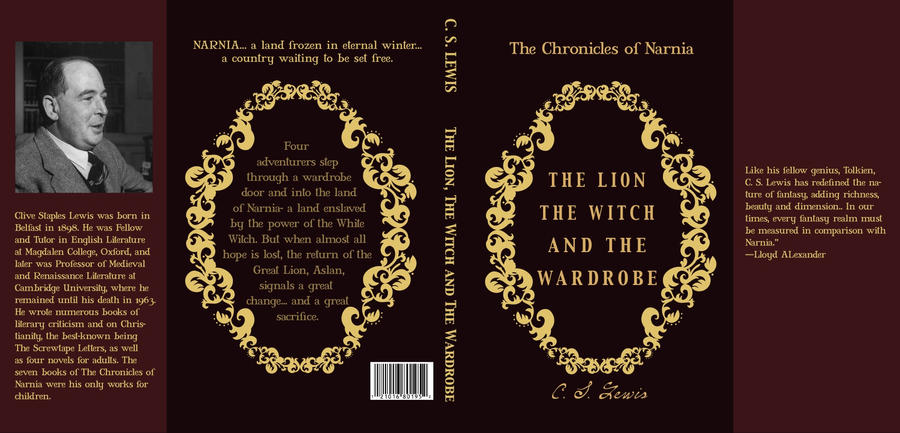 Classic Book Cover Art : Classic book cover of narnia by jclaramae on deviantart