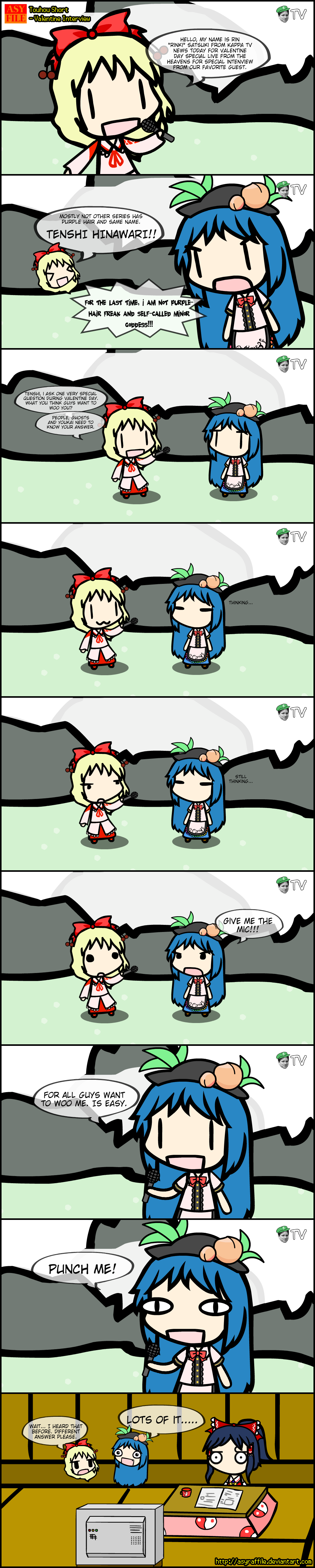 Touhou Short - Valentine Interview by AsyrafFile