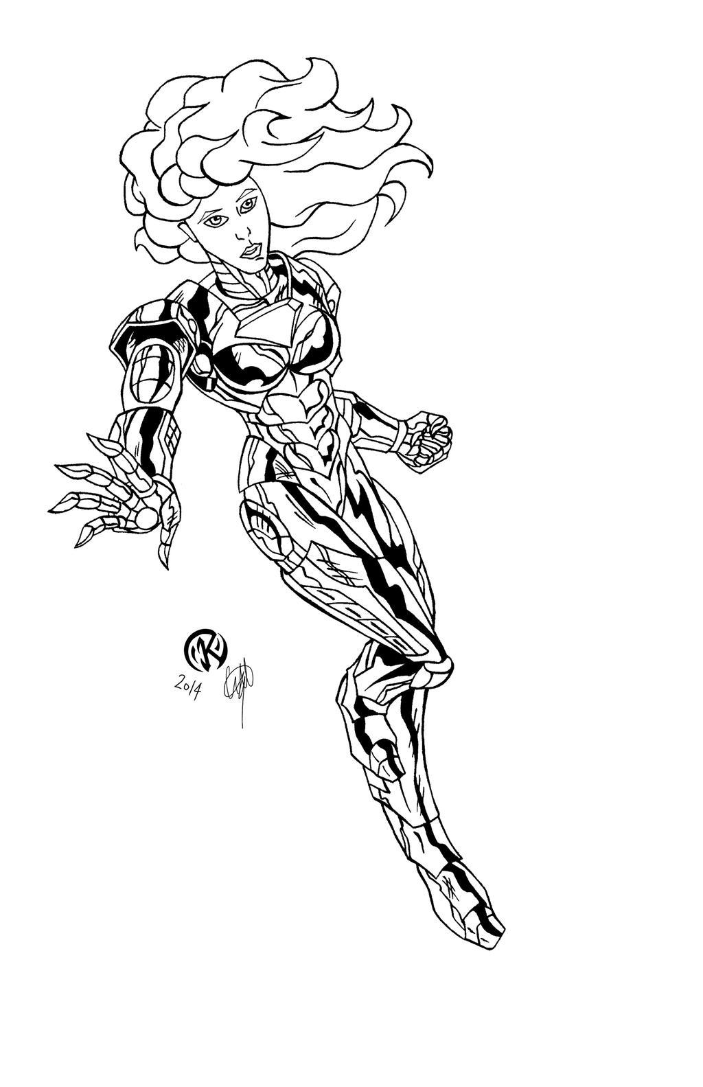 Iron Daniela - inks by ZethKeeper