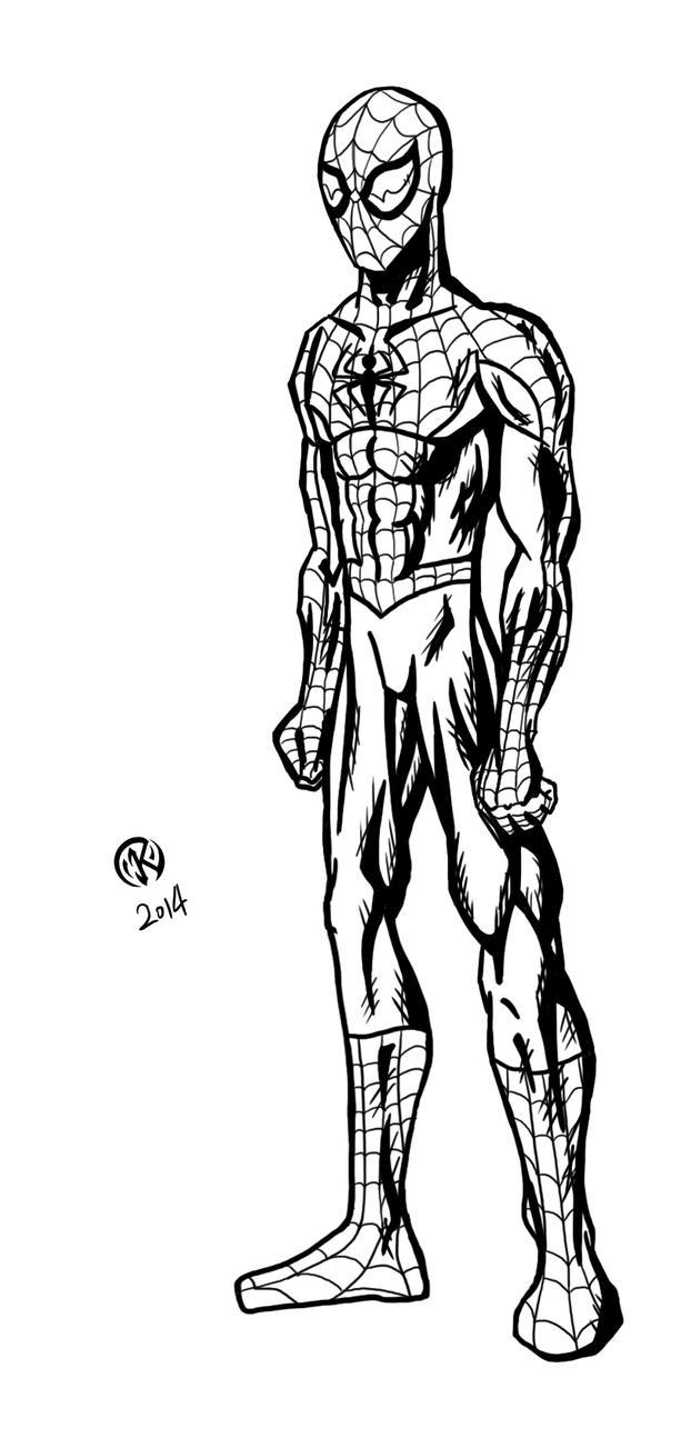 Spider-Man - lineart by ZethKeeper