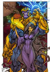 Thanos And Death - colors