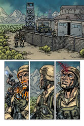 Raptors: The Metahuman Conspiracy page 1 - colors by ZethKeeper