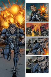 Raptors: The Metahuman Conspiracy page 3 - colors by ZethKeeper
