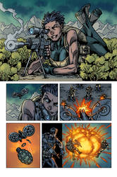 Raptors: The Metahuman Conspiracy page 4 - colors by ZethKeeper